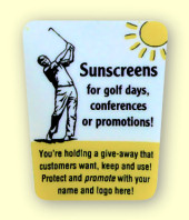 Sunscreen tube label
