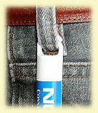 Clipbalm attached to jeans
