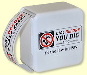 Dial Before You Dig dispenser