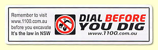 Dial Before Your Dig label
