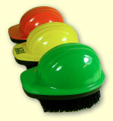 Hard Hat Brushes - orange, yellow green