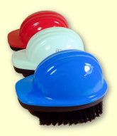 Hard Hat Brushes - red, white, blue