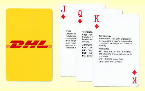 DHL Playing Card Brochure