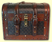 Treasure Chest with Padlock & Keys
