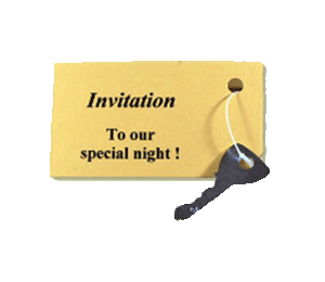 Send a key with an invitation